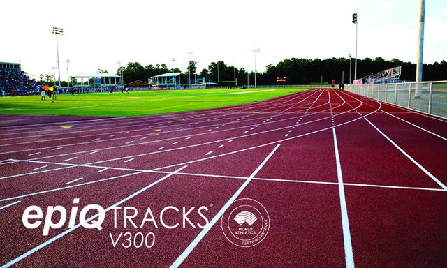 The paved-in-place epiQ Tracks V300 system is now an IAAF certified product.